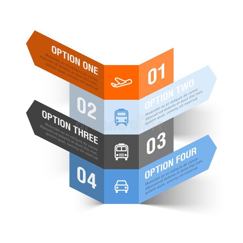Calibre abstrait d'infographics de thème de voyage illustration stock