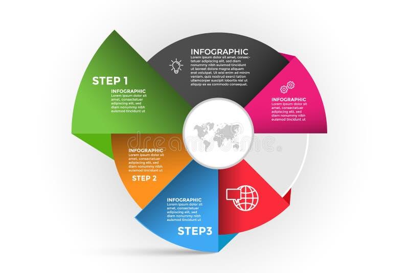 Calibre abstrait d'infographics illustration de vecteur