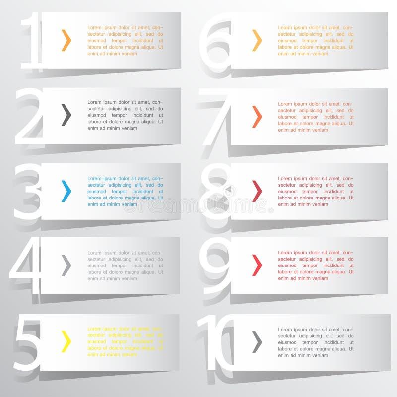 Calibre abstrait d'options de nombre d'infographics Illustration de vecteur peut être employé pour la disposition de déroulement  illustration stock