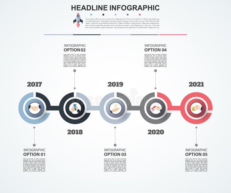 Calibre abstrait d'options de nombre d'infographics Vecteur illustration de vecteur