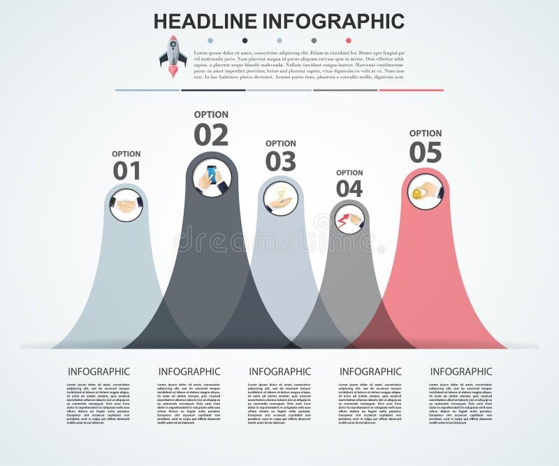 Calibre abstrait d'options de nombre d'infographics Vecteur illustration stock