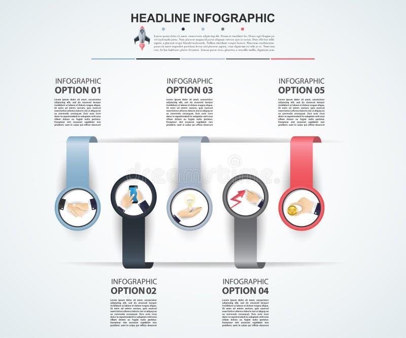 Calibre abstrait d'options de nombre d'infographics Illustrati de vecteur illustration libre de droits