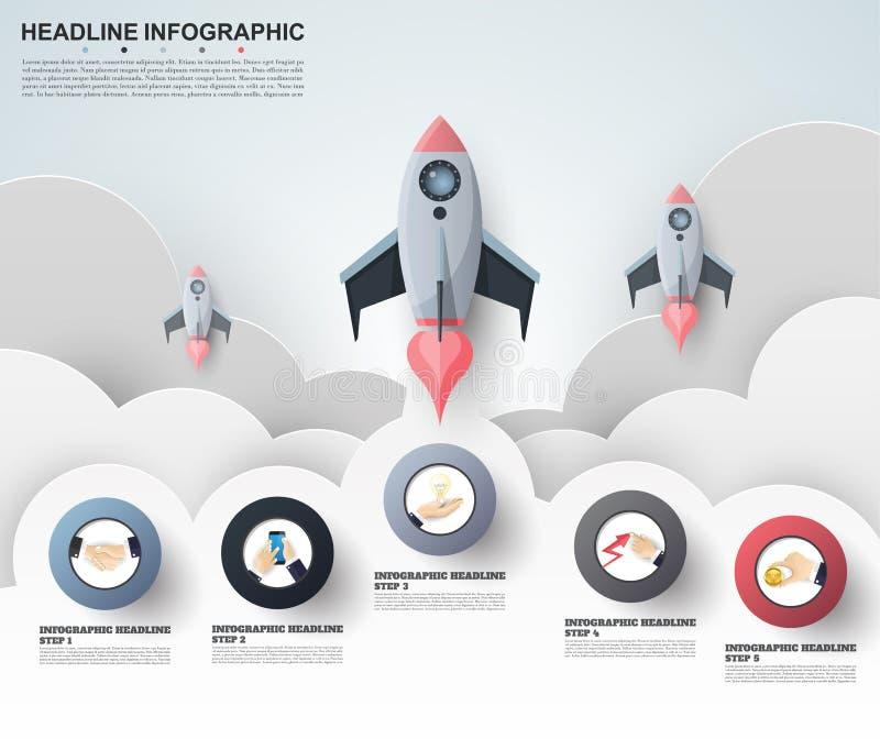 Calibre abstrait d'options de nombre d'infographics Illustrati de vecteur illustration de vecteur