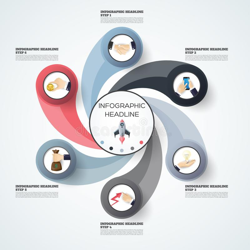Calibre abstrait d'options de nombre d'infographics Illustrati de vecteur illustration stock