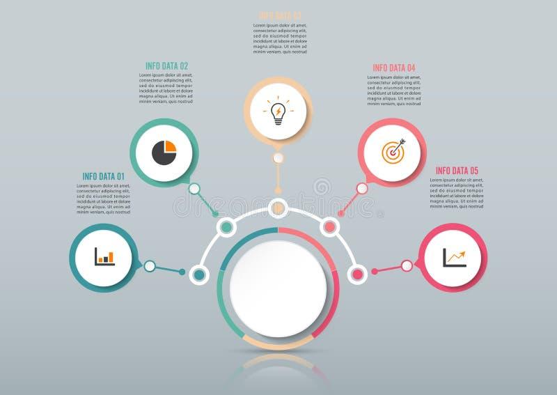 Calibre abstrait d'options de nombre d'infographics Illustration de vecteur peut être employé pour la disposition de déroulement  illustration libre de droits