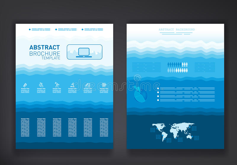 Calibre abstrait de brochure illustration stock