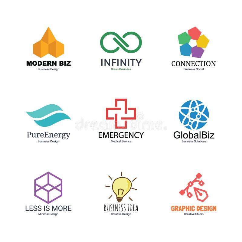 Calibre abstrait de conception de logo illustration stock