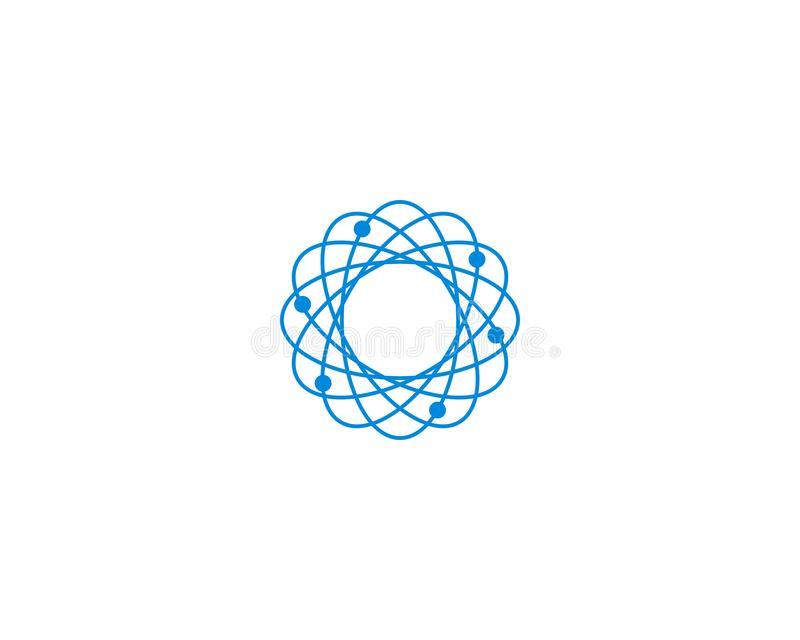 Calibre abstrait de conception de logo d'ADN d'atome de molécule de biotechnologie illustration stock