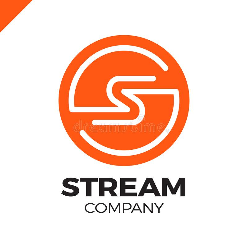 Calibre abstrait de conception de logo de la lettre S, le feu de vitesse rapide se déplaçant, signe rapide d'énergie illustration stock