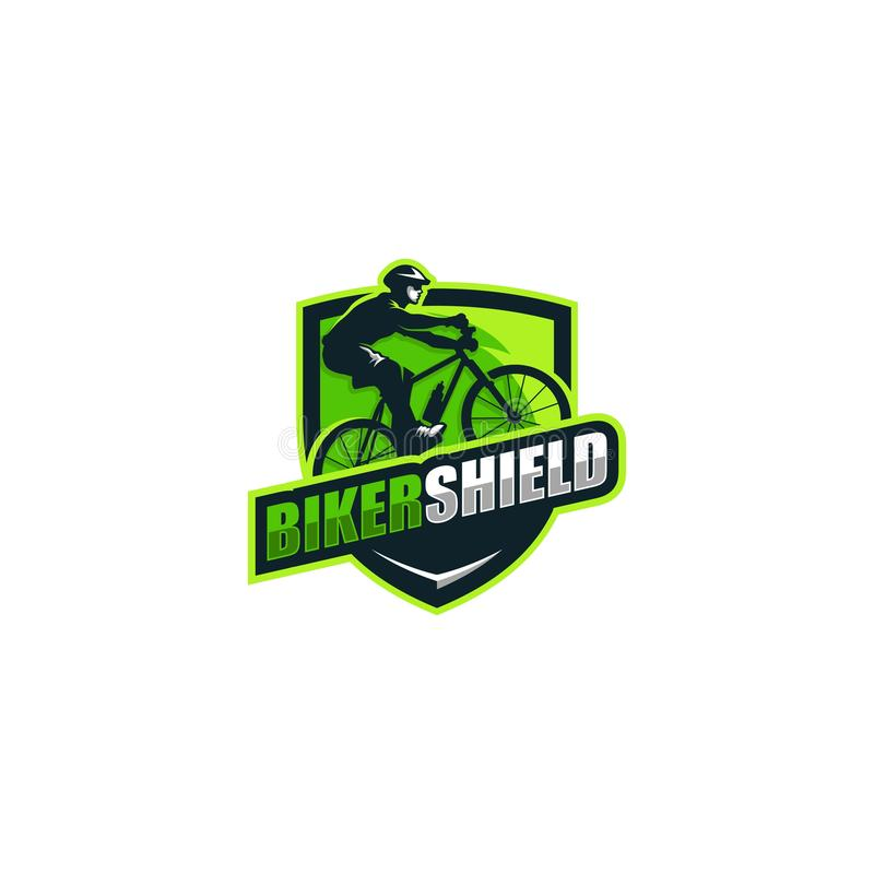 Calibre abstrait de conception de vecteur d'illustration de concept de cyclistes illustration stock