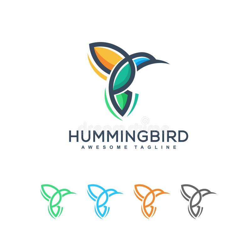 Calibre abstrait de conception de vecteur d'illustration d'oiseau de ronflement illustration libre de droits