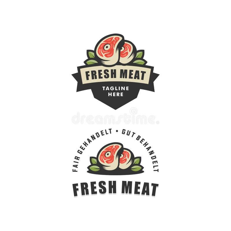 Calibre abstrait de conception de vecteur d'illustration de viande fraîche illustration libre de droits