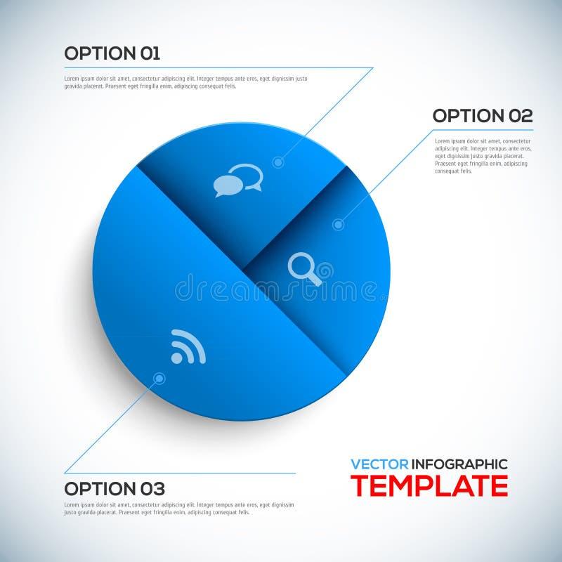 Calibre abstrait de 3D Infographic illustration stock