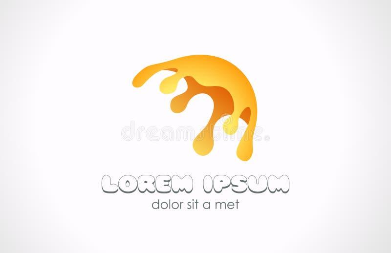 Abrégé sur jaune logo d'éclaboussure. Icône jaune de peinture. illustration libre de droits