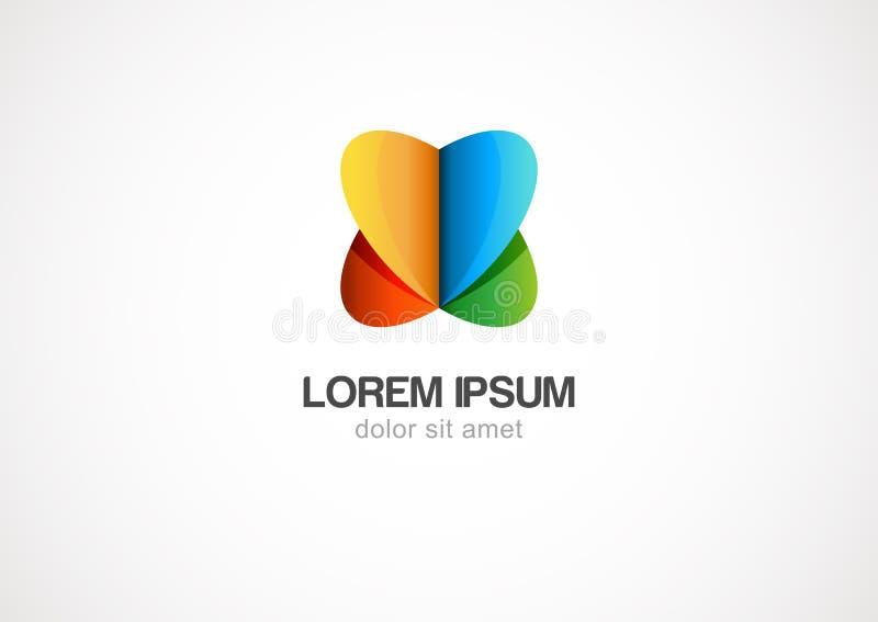 Calibre abstrait de logo de cercle d'infini Graphisme de vecteur illustration stock