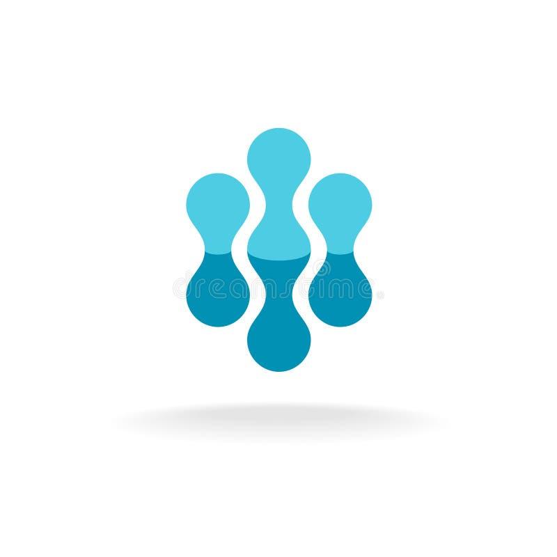 Calibre abstrait de logo de structures moléculaires illustration stock