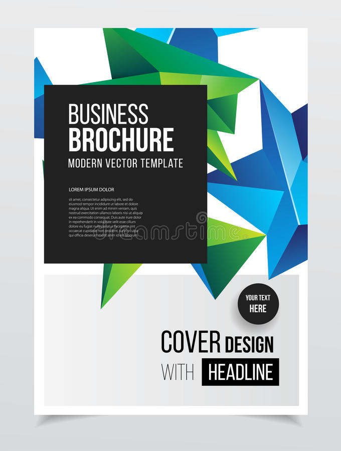 Calibre abstrait de vecteur de conception d'insecte d'affaires dans la taille A4 Document illustration libre de droits
