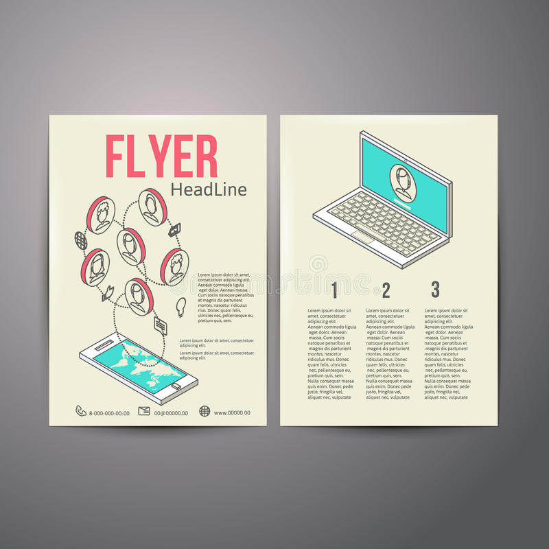 Calibre abstrait de vecteur de conception d'insecte de brochure illustration stock