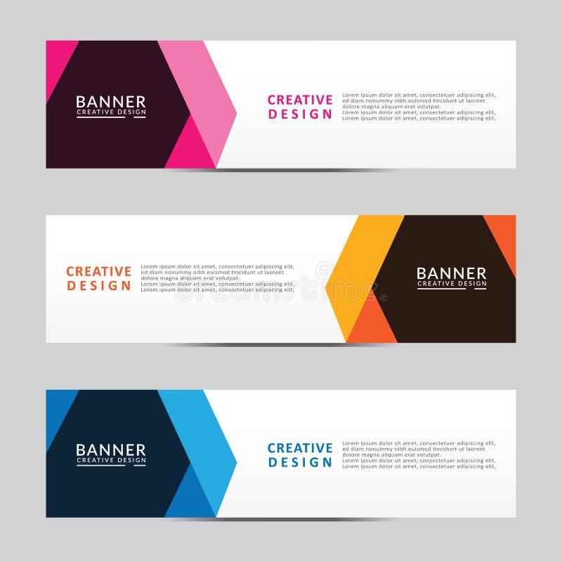 Calibre abstrait de Web de banni?re de dessin g?om?trique de vecteur Conception moderne illustration stock