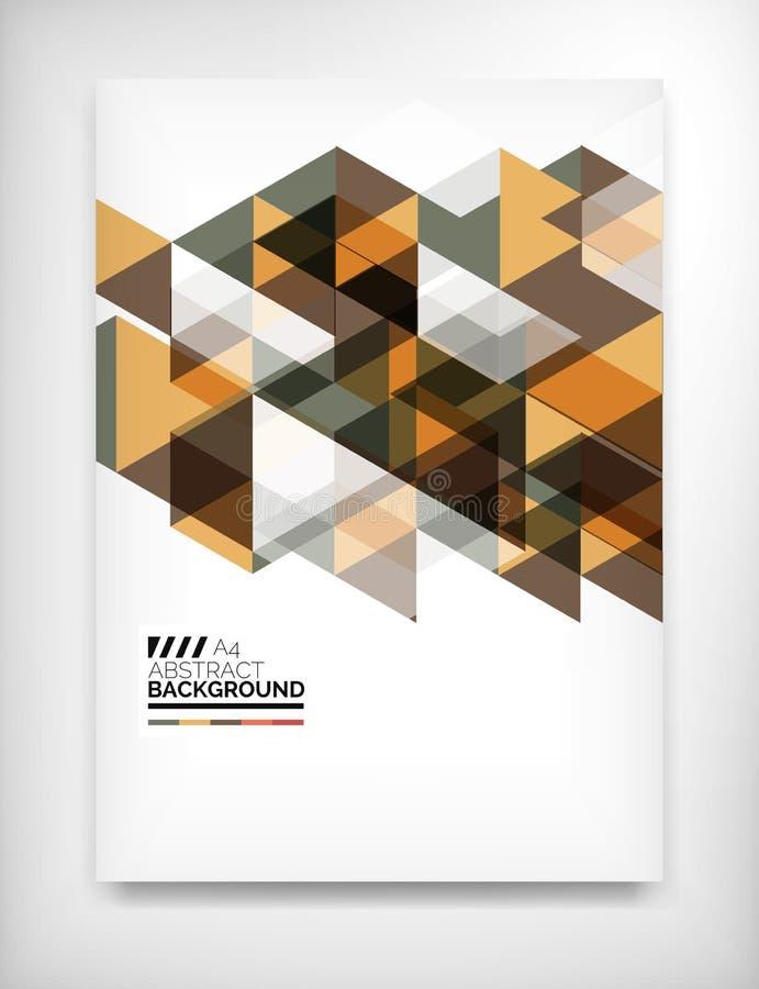Calibre abstrait géométrique d'affaires illustration stock