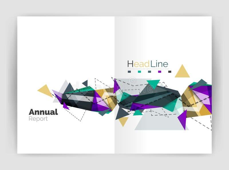 Calibre abstrait peu commun de brochure d'entreprise constituée en société illustration libre de droits