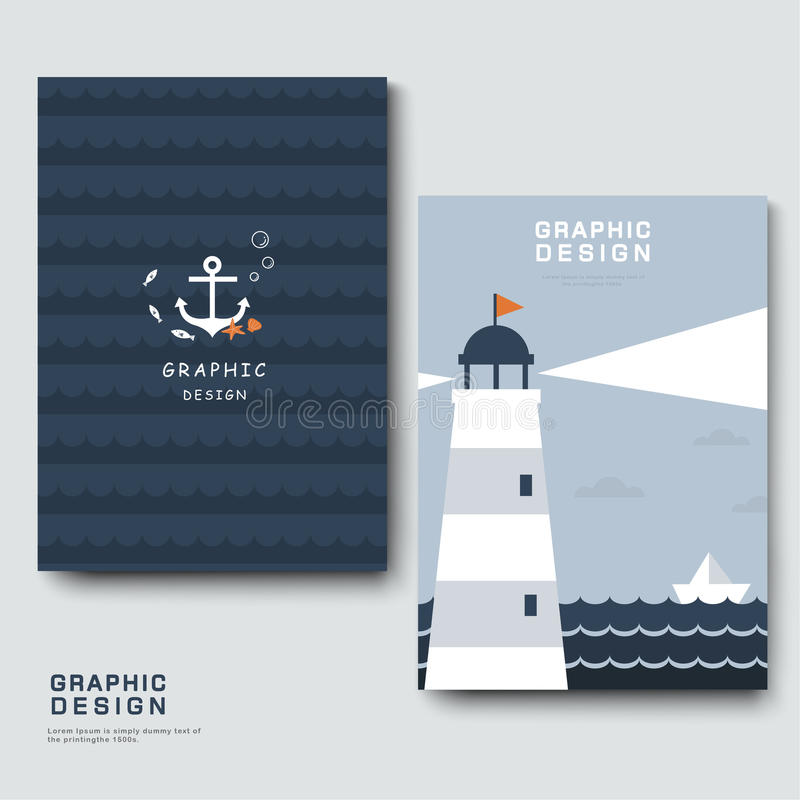 Calibre adorable de brochure illustration de vecteur