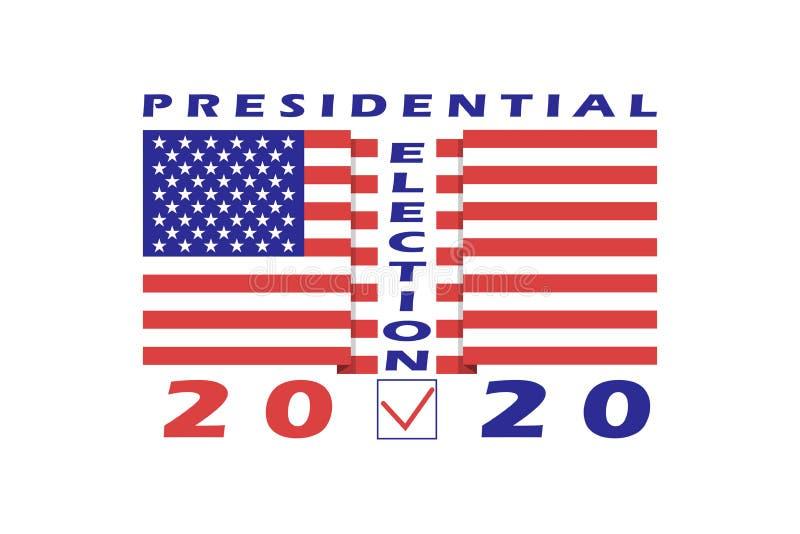 Calibre 2020 américain de bannière d'élection présidentielle Élément de conception pour l'élection présidentielle des USA le 3 no illustration de vecteur
