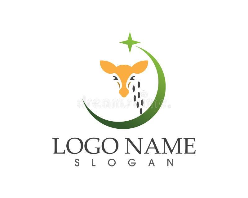 Calibre animal de logo de signe d'icône de girafe illustration stock