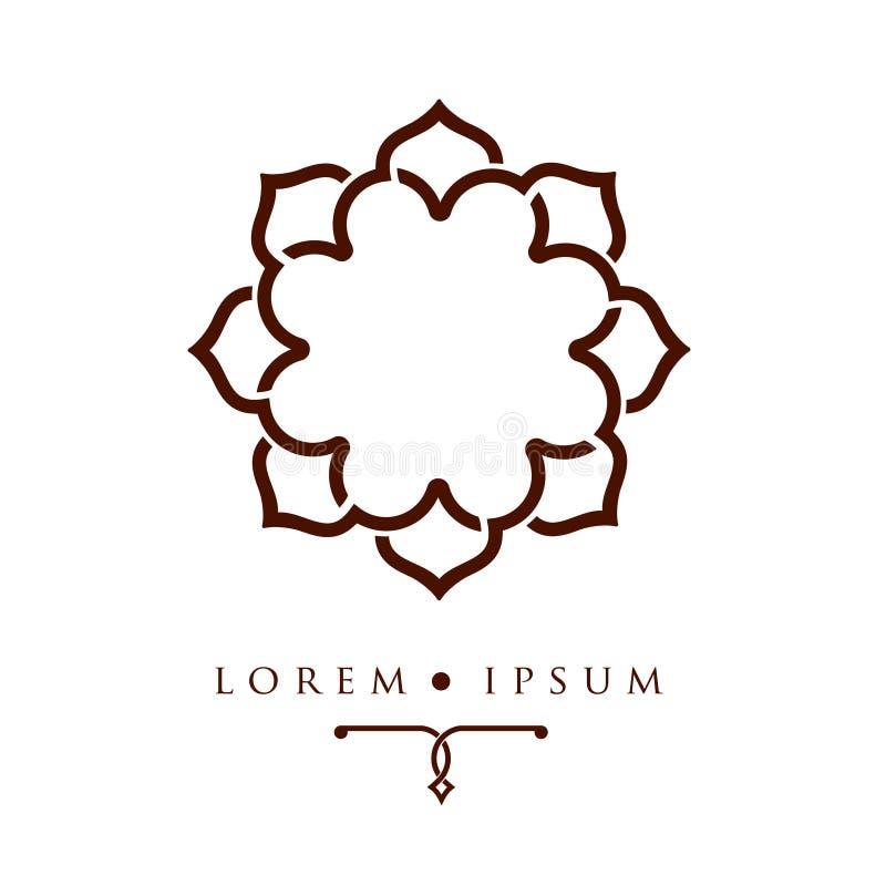 Calibre arabe oriental de logo de modèle de dessin géométrique illustration libre de droits