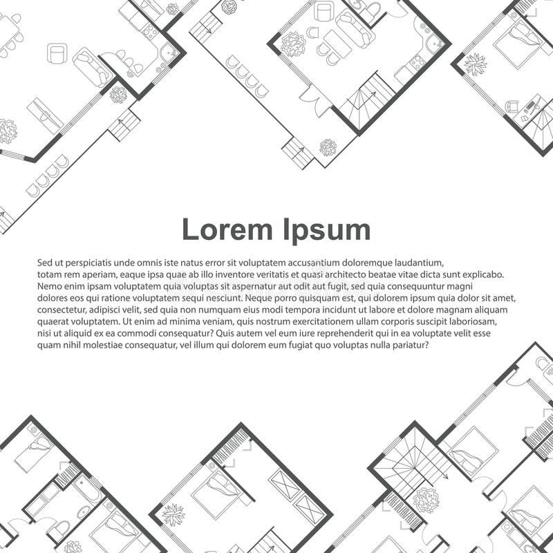 Calibre architectural de fond illustration libre de droits