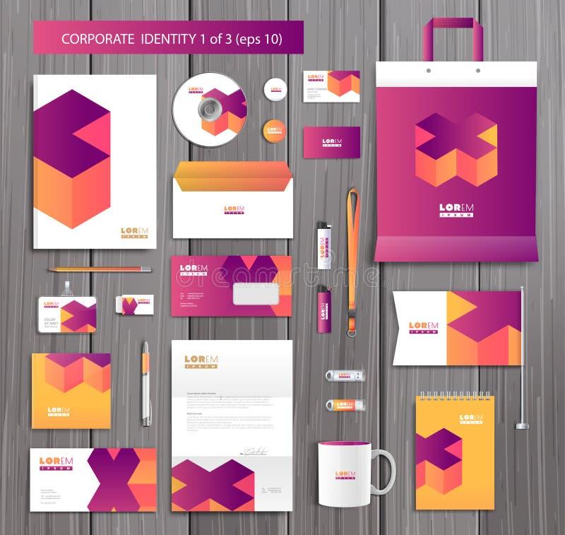 Calibre artistique d'identité d'entreprise de vecteur avec illustration libre de droits
