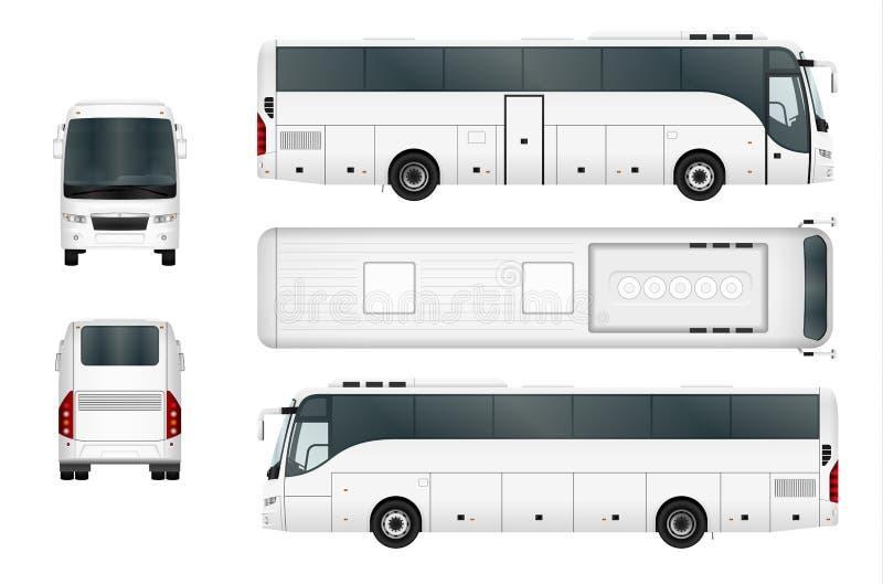 Calibre blanc d'autobus de vecteur illustration libre de droits