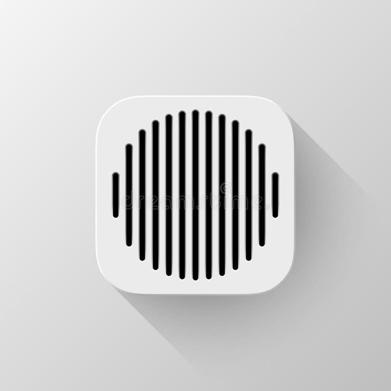 Calibre blanc d'icône de la technologie APP illustration libre de droits