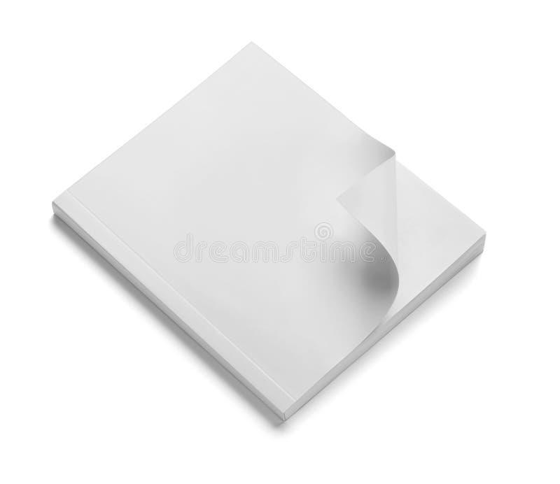 Calibre blanc de papier blanc de manuel de carnet de livre photo stock