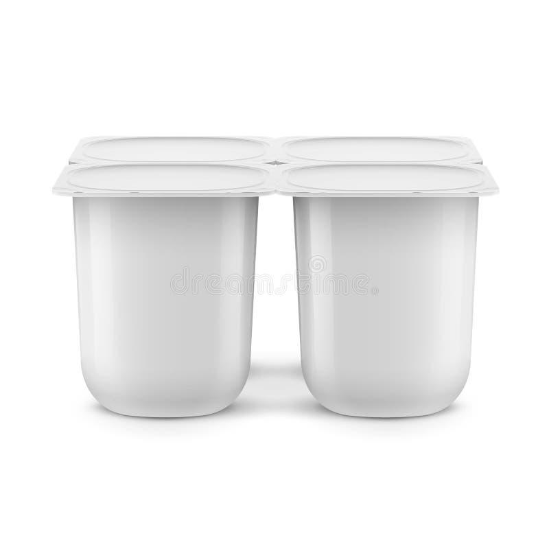 Calibre blanc de pot de yaourt illustration libre de droits