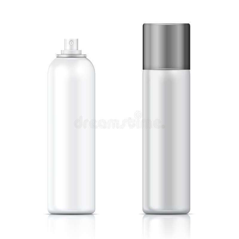Calibre blanc et argenté de bouteille de pulvérisateur. illustration stock