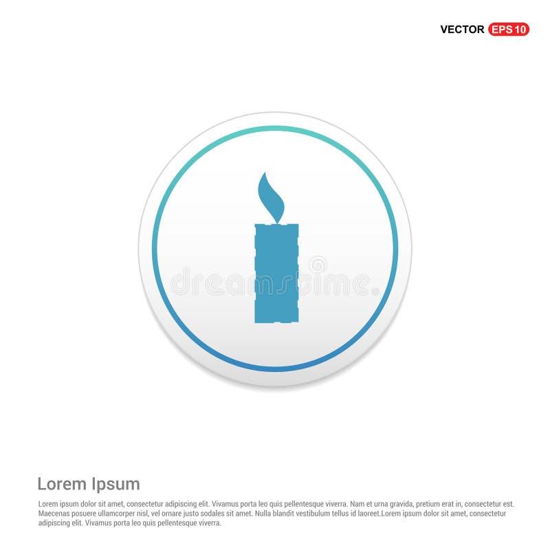 Calibre blanc hexa d'icône de fond d'icône de bougie illustration de vecteur