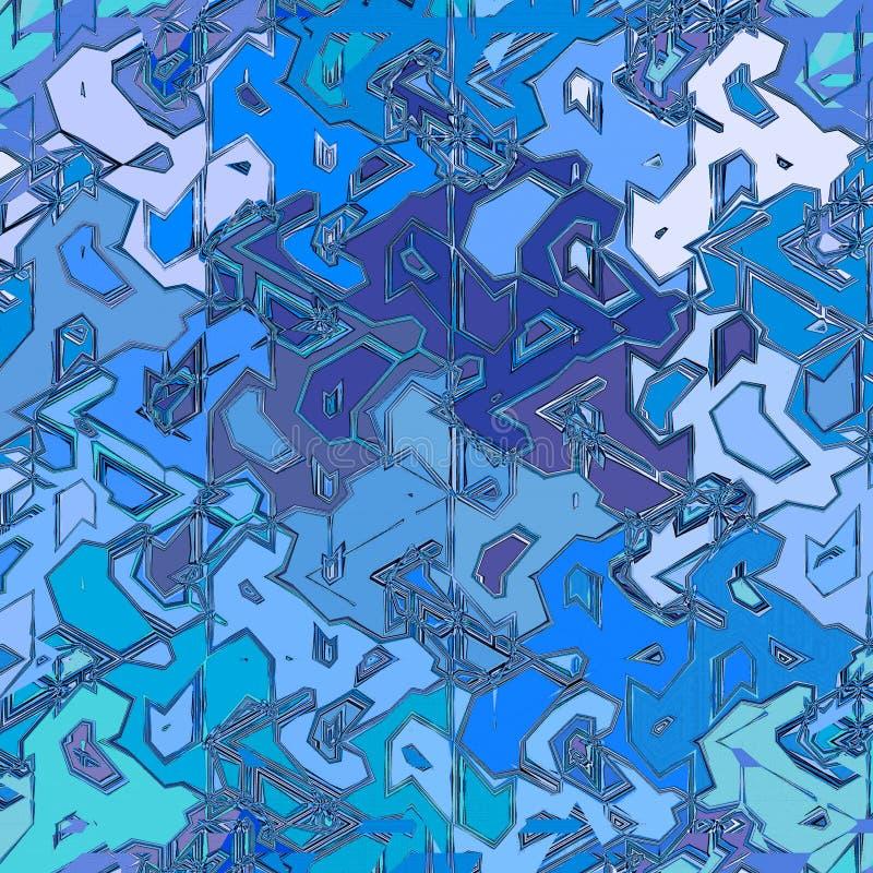 Calibre bleu de conception de fond d'abrégé sur mosaïque de glace illustration de vecteur