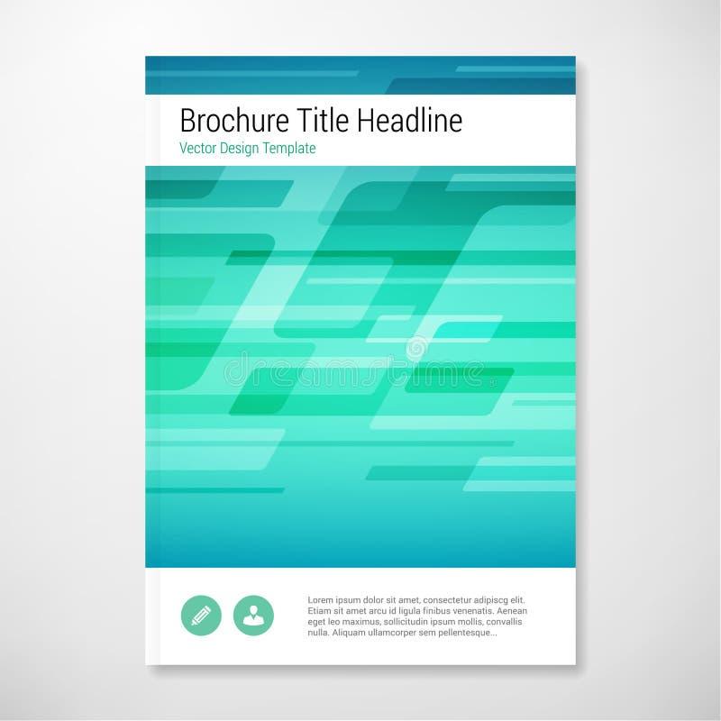 Calibre bleu et vert vecteur de forme moderne d'abrégé sur de brochure de rapport de conception illustration libre de droits