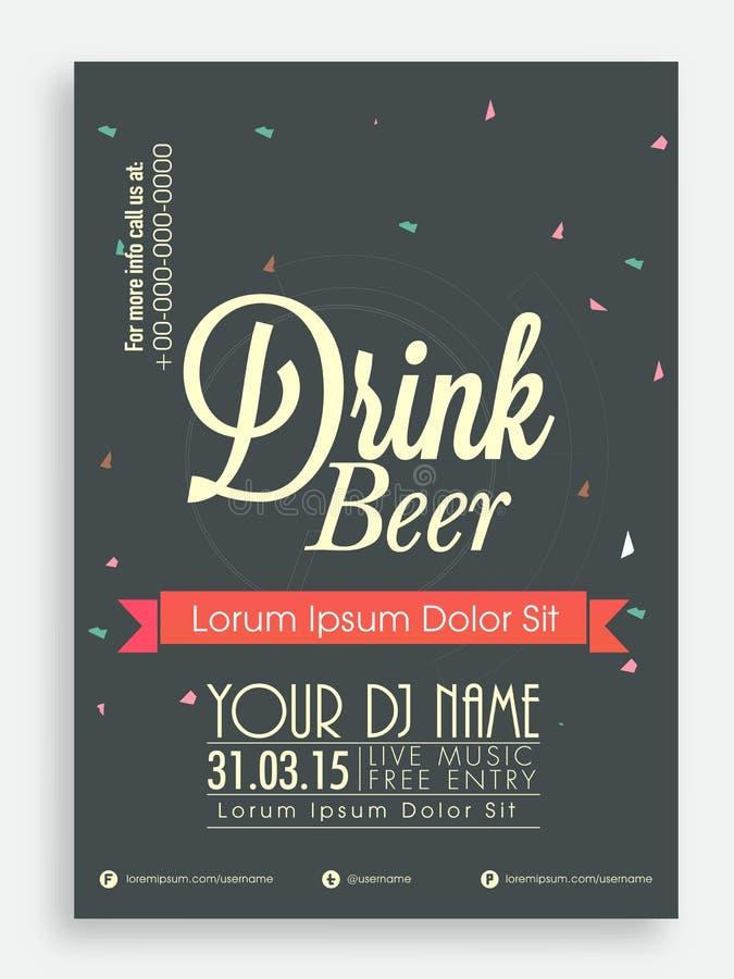 Calibre, brochure ou insecte pour la bière illustration libre de droits