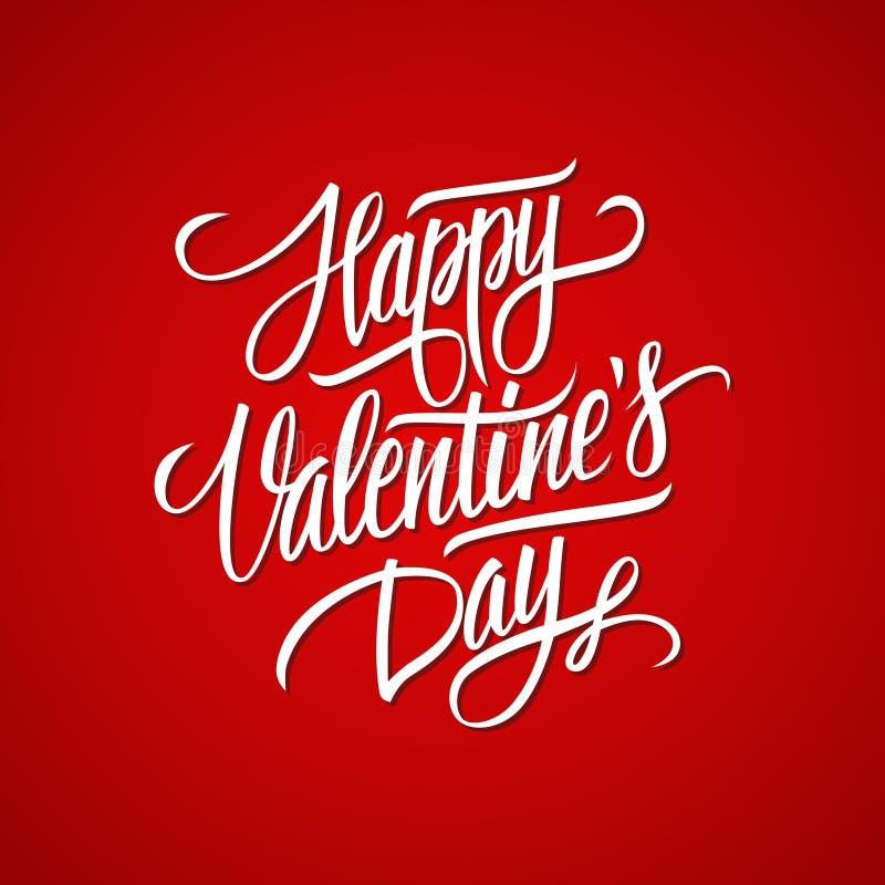 Calibre calligraphique de carte de conception de lettrage de Valentine de jour heureux du ` s Typographie créative pour des salut illustration stock