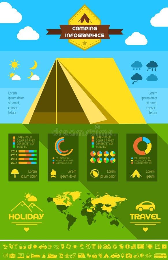 Calibre campant plat d'Infographic. illustration de vecteur