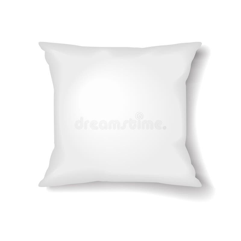 Calibre carré d'oreiller d'isolement sur le fond blanc illustration stock