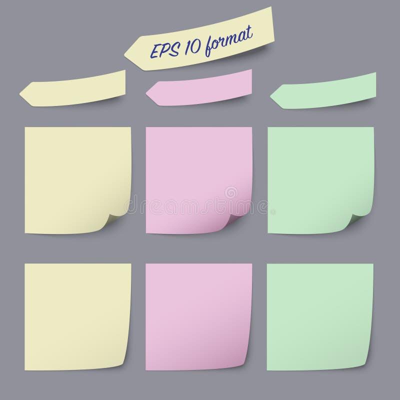 Calibre collant d'adnotations de notes illustration stock