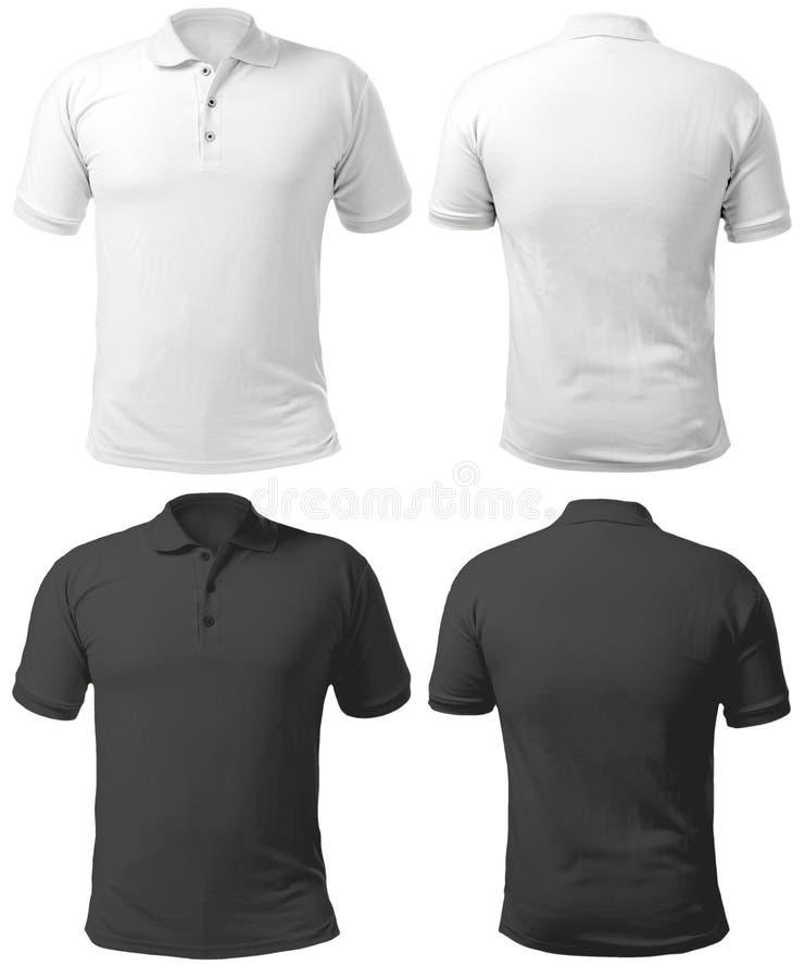 Calibre colleté noir et blanc de conception de chemise images libres de droits