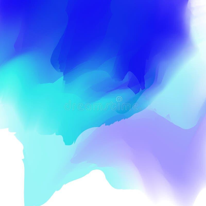Calibre coloré Éclaboussures d'aquarelle Vecteur illustration libre de droits
