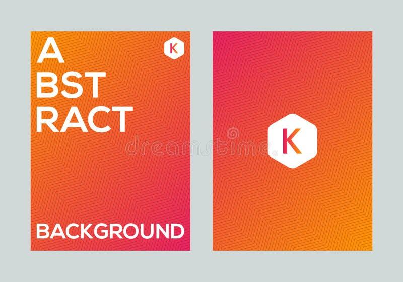 Calibre coloré abstrait de conception de fond de bannière d'affiche de gradient de vecteur photographie stock