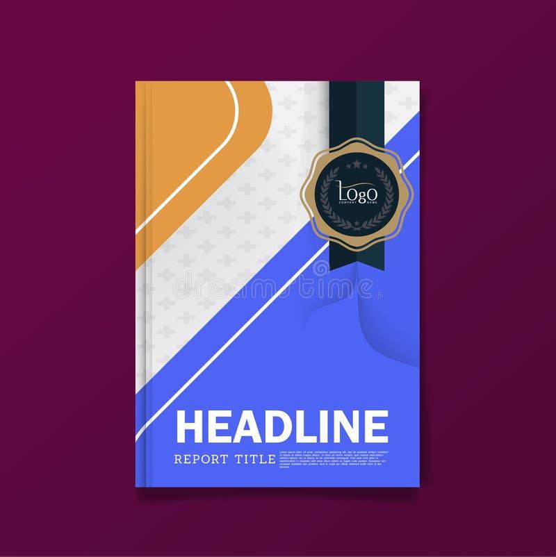Calibre coloré de disposition de conception de couverture d'insecte de brochure d'affaires dans la taille A4, avec le fond premie illustration stock