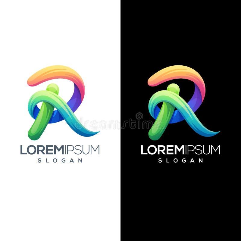 Calibre coloré de logo de la lettre r illustration libre de droits