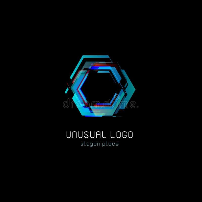 Calibre coloré de logo de vecteur d'abrégé sur futuriste réacteur Logotype numérique d'effet de conception de technologies innova illustration stock